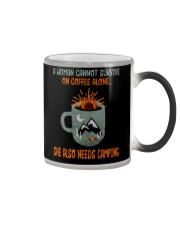 A Woman Cannot Survive Camping Color Changing Mug thumbnail
