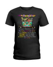 Hippie Daughter Mom Mommy Loves You Ladies T-Shirt thumbnail
