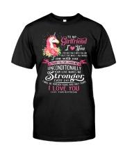 Unicorn Love Makes Me Stronger Girlfriend  Classic T-Shirt thumbnail
