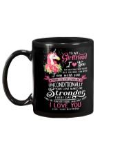 Unicorn Love Makes Me Stronger Girlfriend  Mug back