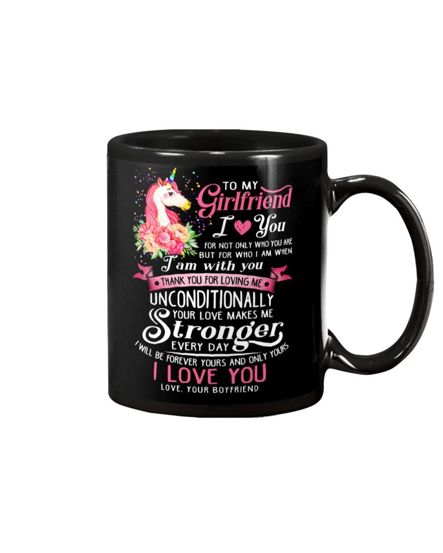 Unicorn Love Makes Me Stronger Girlfriend  Mug