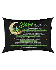Baby I Love You Enough To Fight For You Farmer Rectangular Pillowcase back