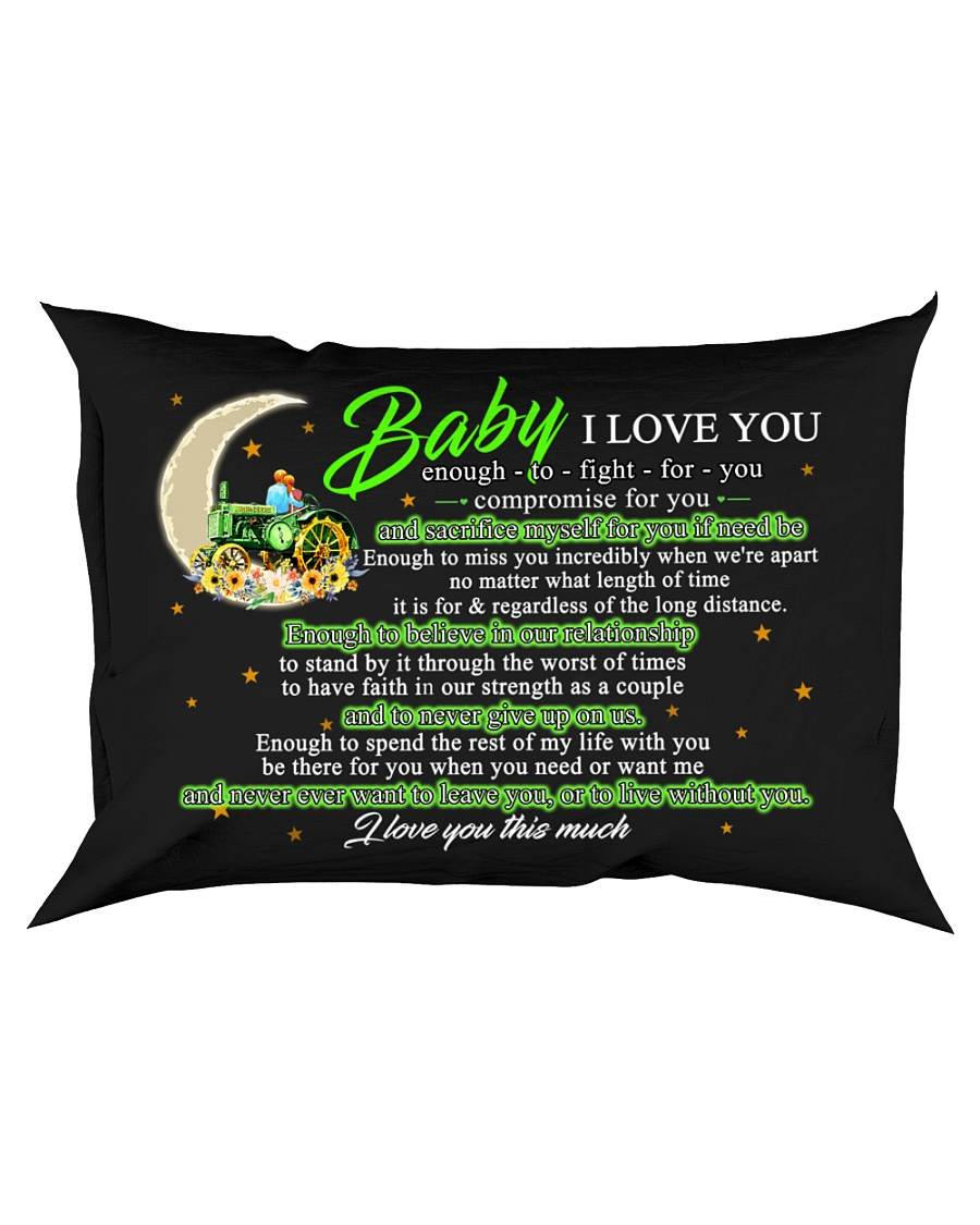 Baby I Love You Enough To Fight For You Farmer Rectangular Pillowcase