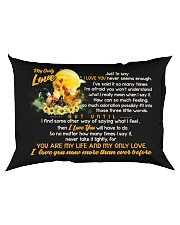 Just To Say I Love You Chicken Rectangular Pillowcase back