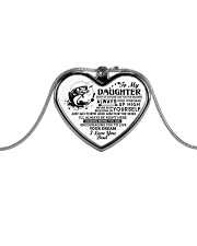 Don't Let Anyone Take You For Granted Fishing Dad Metallic Heart Necklace front