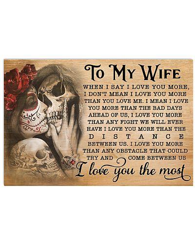 Skull Wife I Love You More GG