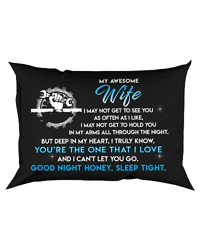 Mechanic Wife Good Night Sleep Tight Pillow