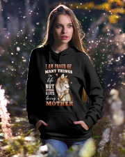 Nothings Beats Being A Mother Wolf Hooded Sweatshirt lifestyle-holiday-hoodie-front-5