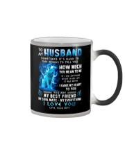 Wolf Gave My Heart To You Husband Color Changing Mug thumbnail