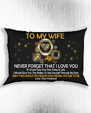 Never Forget That I Love You Rectangular Pillowcase aos-pillow-rectangle-front-lifestyle-4