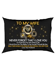 Never Forget That I Love You Rectangular Pillowcase back