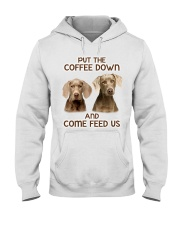 Put The Coffee Down Come Feed Us Dog Hooded Sweatshirt thumbnail