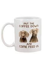 Put The Coffee Down Come Feed Us Dog Mug back
