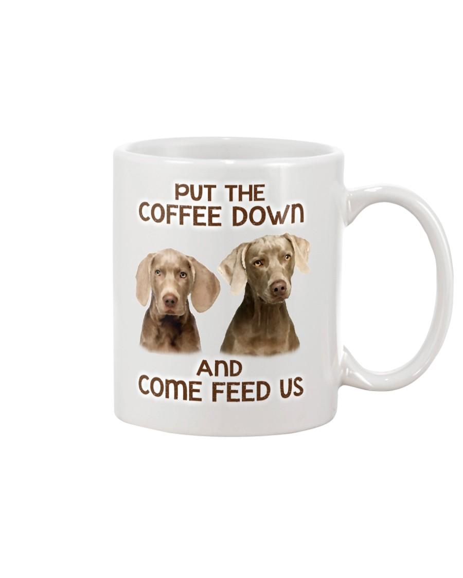 Put The Coffee Down Come Feed Us Dog Mug