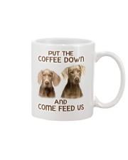 Put The Coffee Down Come Feed Us Dog Mug front