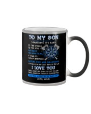 Viking Mom Son Last Breath To Say Love  Color Changing Mug tile