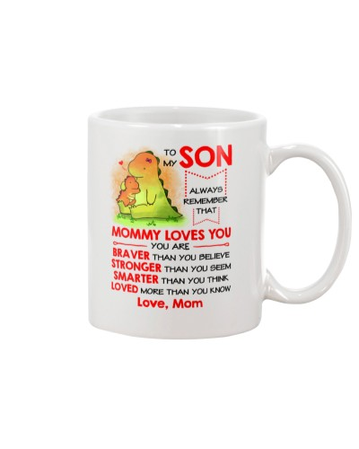 Dinosaur Son Mom Loves You Mug
