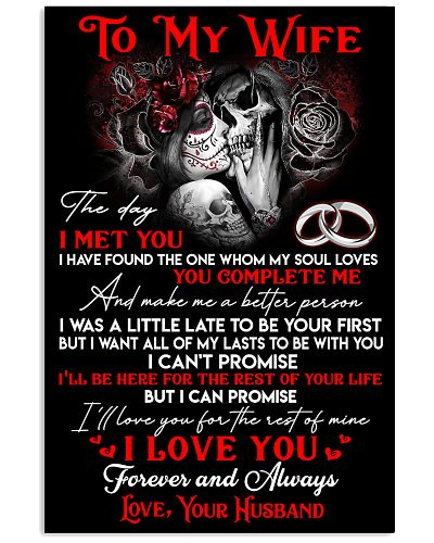 Skull Wife Love For My Life Poster GG