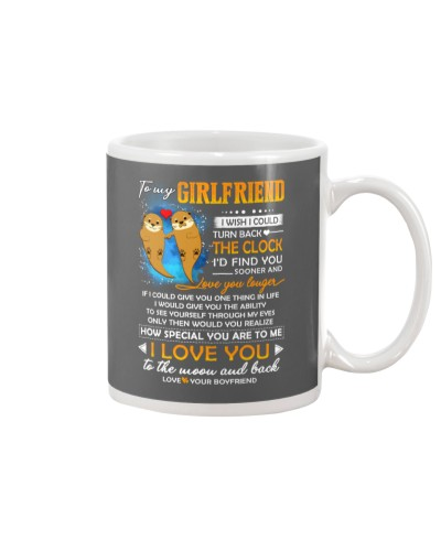 Otter Girlfriend Clock Ability Moon Mug