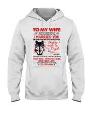Love Made Us Together Wolf Hooded Sweatshirt front