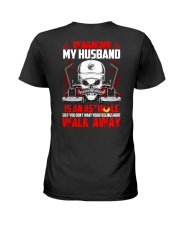 My Husband Is An Asshole Trucker Ladies T-Shirt back