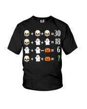 Math Teacher Halloween Math Teacher Costume Youth T-Shirt thumbnail