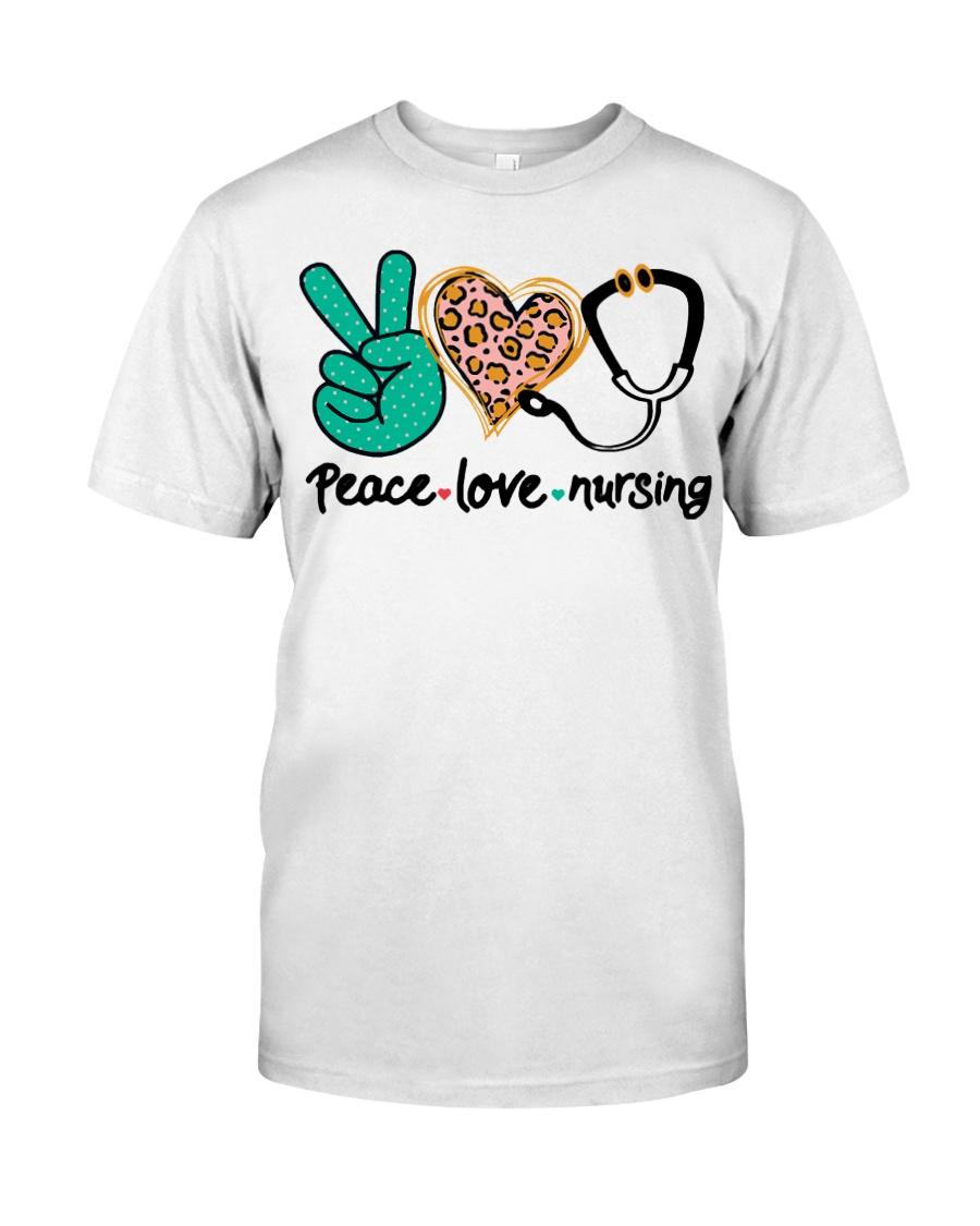 Nurse Peace Love And Nursing T Shirt