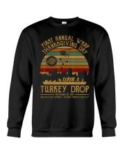 Turkeythanksgiving Wkrp-Turkey-Drop Crewneck Sweatshirt thumbnail