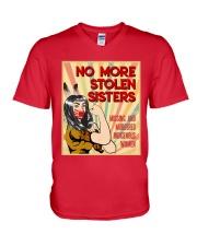 No More Stolen Sisters - MMIW V-Neck T-Shirt thumbnail