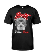 Pittie Mom Classic T-Shirt tile