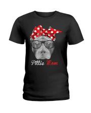 Pittie Mom Ladies T-Shirt thumbnail