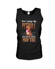 Don't Judge My Pitbull Unisex Tank thumbnail