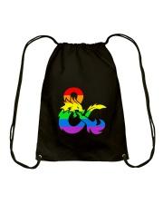 DnD Rainbow LGBT Pride Drawstring Bag thumbnail
