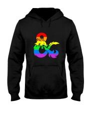 DnD Rainbow LGBT Pride Hooded Sweatshirt thumbnail