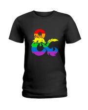 DnD Rainbow LGBT Pride Ladies T-Shirt thumbnail