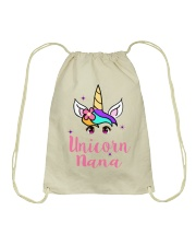 Unicorn Nana tshirt Drawstring Bag thumbnail