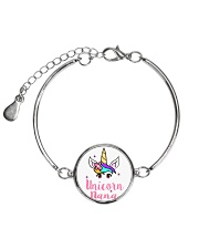 Unicorn Nana tshirt Metallic Circle Bracelet thumbnail