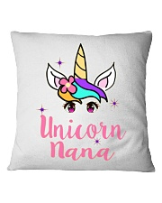Unicorn Nana tshirt Square Pillowcase thumbnail