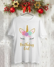 The perfect addition to any Unicorn themedbirthday Classic T-Shirt lifestyle-holiday-crewneck-front-2