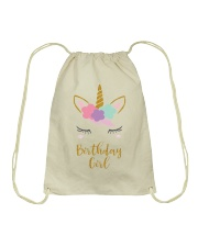 The perfect addition to any Unicorn themedbirthday Drawstring Bag thumbnail