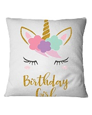 The perfect addition to any Unicorn themedbirthday Square Pillowcase thumbnail