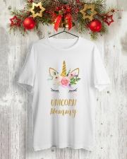 Cute Unicorn Mom Shirt Mom of the Birthday Girl Classic T-Shirt lifestyle-holiday-crewneck-front-2