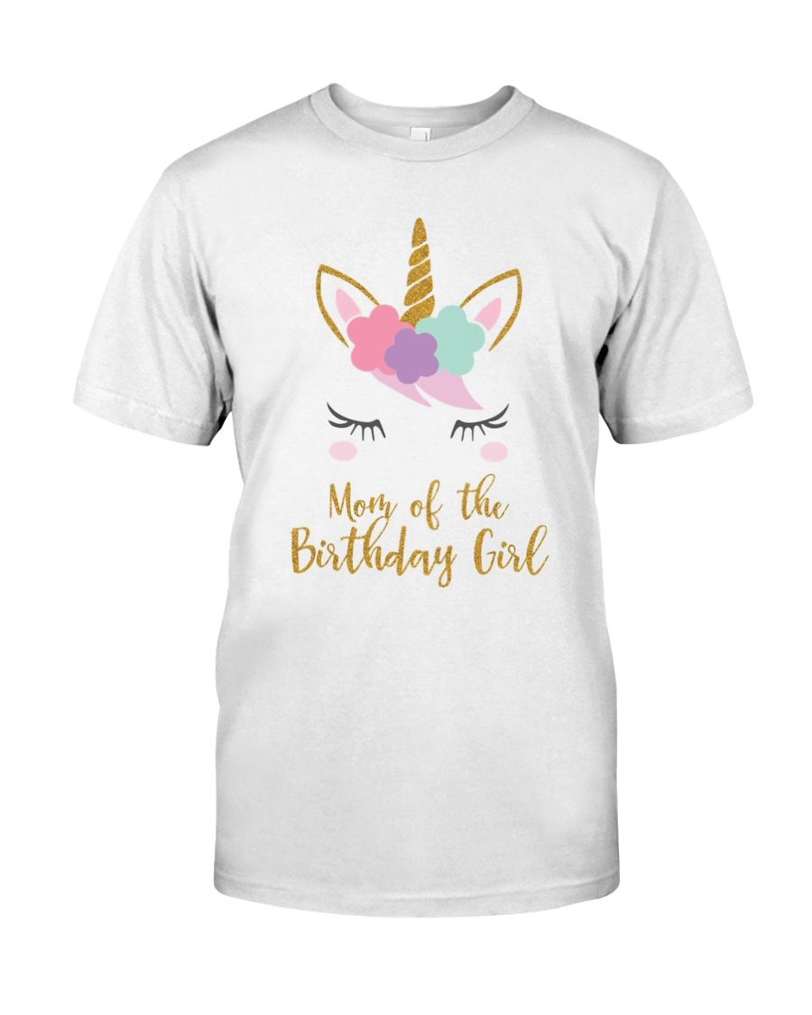 Cute Unicorn Mom Shirt Mom of the Birthday Girl Classic T-Shirt