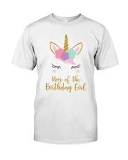 Cute Unicorn Mom Shirt Mom of the Birthday Girl Classic T-Shirt front