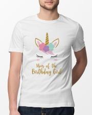 Cute Unicorn Mom Shirt Mom of the Birthday Girl Classic T-Shirt lifestyle-mens-crewneck-front-13
