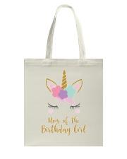 Cute Unicorn Mom Shirt Mom of the Birthday Girl Tote Bag thumbnail