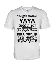You Can't Scare Me I Have A Crazy Yaya V-Neck T-Shirt thumbnail