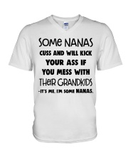 Some Nanas Cuss And Will Kick Your Ass If You Mess V-Neck T-Shirt thumbnail