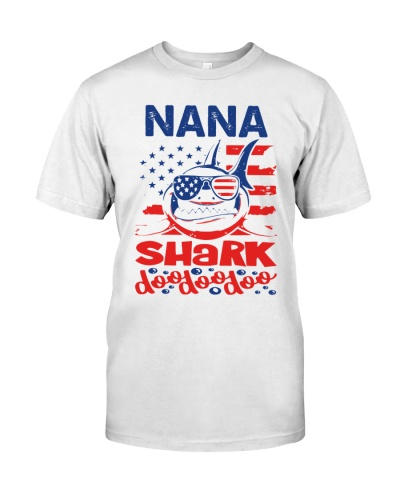 Nana Shark 4th of July Funny Gift