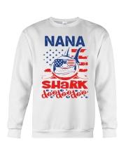 Nana Shark 4th of July Funny Gift Crewneck Sweatshirt thumbnail